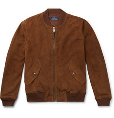 Polo Ralph Lauren Slim-Fit Suede Bomber Jacket
