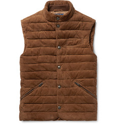 Polo Ralph Lauren - Slim-Fit Quilted Suede Gilet