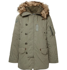 Polo Ralph Lauren - Faux Fur-Trimmed Cotton-Blend Hooded Down Parka