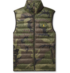 Polo Ralph Lauren Camouflage-Print Quilted Shell Down Gilet