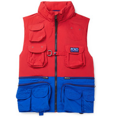 Polo Ralph Lauren - Hi-Tech Logo-Appliquéd Colour-Block Shell Hooded Gilet