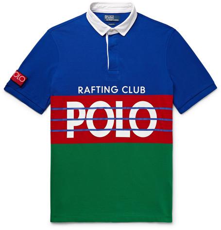 High Tech Logo Print Cotton Piqué Polo Shirt by Polo Ralph Lauren