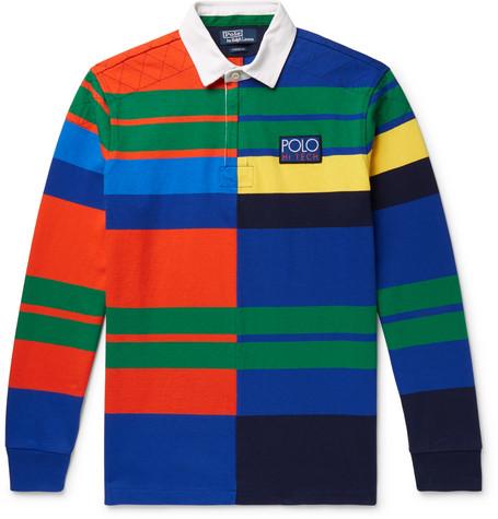 Hi Tech Striped Cotton Piqué Polo Shirt by Polo Ralph Lauren