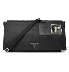 Prada Saffiano Leather-Trimmed Nylon Messenger Bag