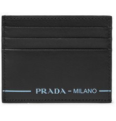 Prada Logo-Print Leather Cardholder
