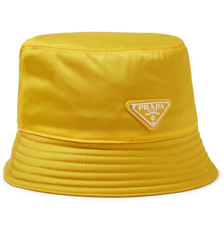 Logo Appliquéd Nylon Bucket Hat by Prada