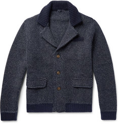 Thom Sweeney - Two-Tone Cashmere and Virgin Wool-Blend Cardigan