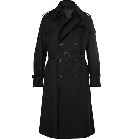 Wool-twill Trench Coat