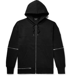 Alexander McQueen Oversized Zip-Detailed Fleece-Back Cotton-Jersey Zip-Up Hoodie