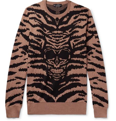 Intarsia Wool Sweater by Alexander Mc Queen