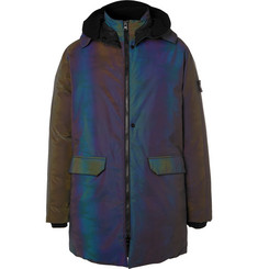 Stone Island Shadow Project Reflective Glass Fibre-Blend Down Coat