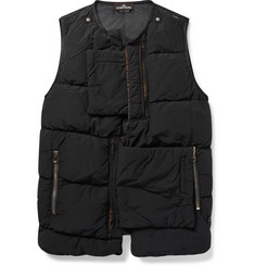 Stone Island Shadow Project Slim-Fit Garment-Dyed Quilted Shell Down Gilet