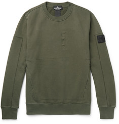Stone Island Shadow Project Fleece-Back Cotton-Jersey Sweatshirt