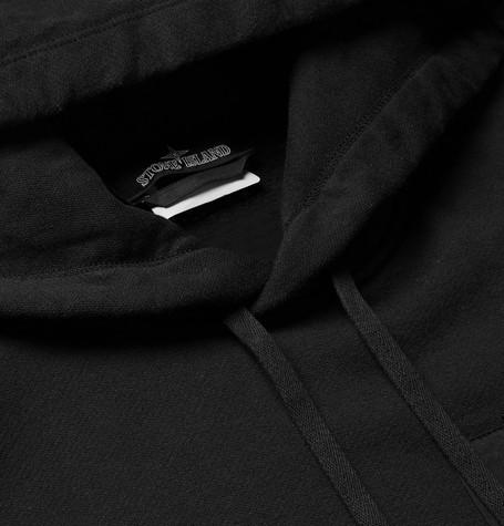 Fleece Back Cotton Jersey Hoodie by Stone Island Shadow Project