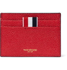 Thom Browne - Grosgrain-Trimmed Pebble-Grain Leather Cardholder