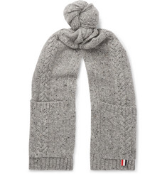 Thom Browne Cable-Knit Wool and Mohair-Blend Scarf