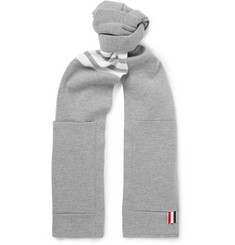 Thom Browne Striped Merino Wool Scarf