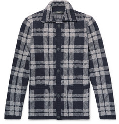 Fendi Checked Virgin Wool-Jacquard Overshirt