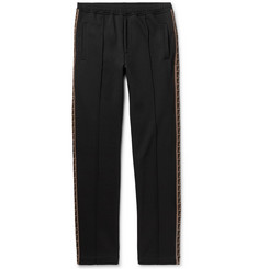 Fendi Slim-Fit Webbing-Trimmed Cotton-Blend Sweatpants