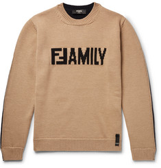 Fendi - Logo-Intarsia Virgin Wool Sweater