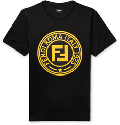 Fendi - Logo-Print Cotton-Jersey T-Shirt