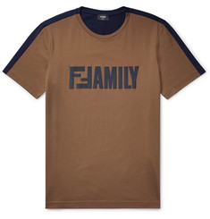 Fendi Slim-Fit Logo-Print Cotton-Jersey T-Shirt