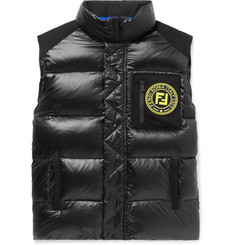 Fendi Logo-Appliquéd Quilted Nylon Down Gilet
