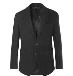 폴로 랄프로렌 Polo Ralph Lauren Charcoal Morgan Slim-Fit Virgin Wool-Blend Blazer,Charcoal