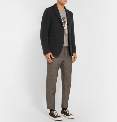 Charcoal Morgan Slim Fit Virgin Wool Blend Blazer by Polo Ralph Lauren