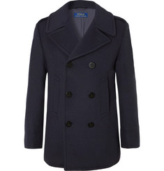 Polo Ralph Lauren Double-Breasted Wool-Blend Felt Peacoat