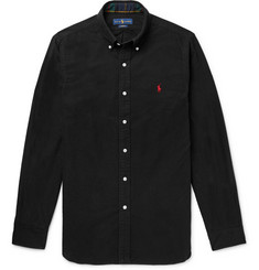 폴로 랄프로렌 셔츠 Polo Ralph Lauren Slim-Fit Button-Down Collar Brushed-Cotton Shirt,Black