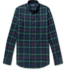 폴로 랄프로렌 셔츠 Polo Ralph Lauren Slim-Fit Checked Brushed-Cotton Shirt