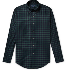 Polo Ralph Lauren Slim-Fit Button-Down Collar Checked Cotton Shirt