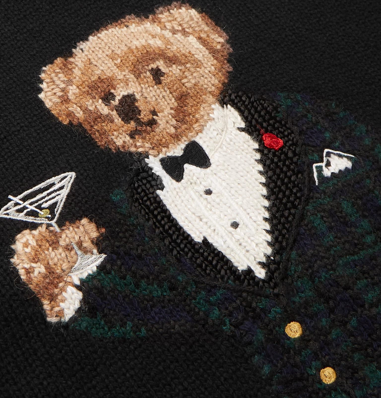 fa138c000d991 Polo Ralph Lauren - Bear-Intarsia Wool Hoodie