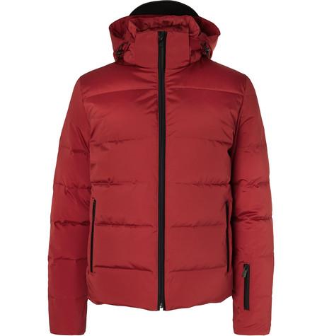 Appliquéd Quilted Down Ski Jacket