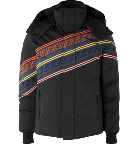 Printed Quilted Down Ski Jacket