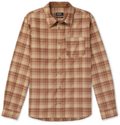 A.P.C. Attic Checked Wool-Blend Shirt