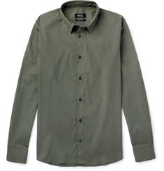 A.P.C. Andre Stretch-Cotton Poplin Shirt