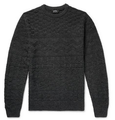 A.P.C. Textured Mélange Wool Sweater