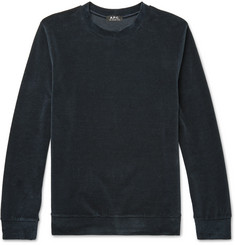 A.P.C. Jérémie Cotton-Blend Velour Sweatshirt