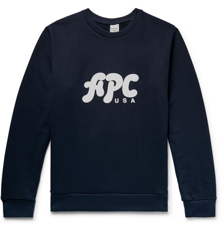 Gabe Logo Print Loopback Cotton Jersey Sweatshirt by A.P.C.