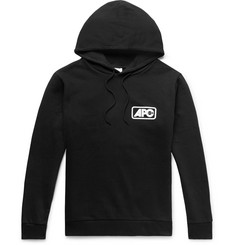 A.P.C. Logo-Print Loopback Cotton-Jersey Hoodie
