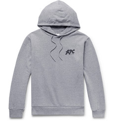 A.P.C. Michel Logo-Print Loopback Cotton-Blend Jersey Hoodie