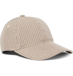 A.P.C. Alex Houndstooth Cotton-Blend Baseball Cap