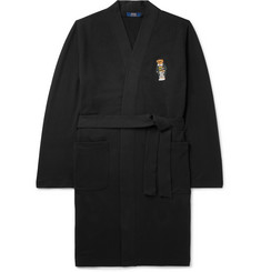 Polo Ralph Lauren - Embroidered Stretch Cotton-Blend Jersey Robe