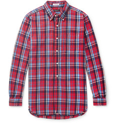 Engineered Garments 19th Century Button-Down Collar Checked Cotton-Flannel Shirt