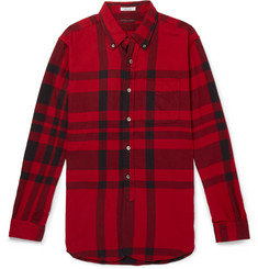 Engineered Garments Button-Down Collar Checked Cotton-Flannel Shirt