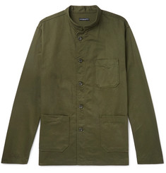 Engineered Garments - Dayton Mandarin-Collar Cotton-Twill Shirt