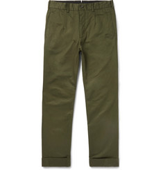 Engineered Garments Andover Tapered Cotton-Twill Trousers
