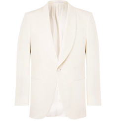 Ermenegildo Zegna White Slim-Fit Silk Tuxedo Jacket